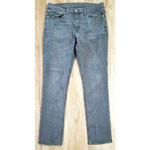 Levi's Mens 511 Slim Fit Gray Jeans Size 36 x 34